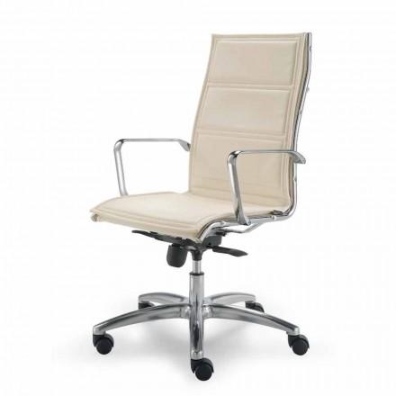 Fotel biurowy ze skóry model Agata