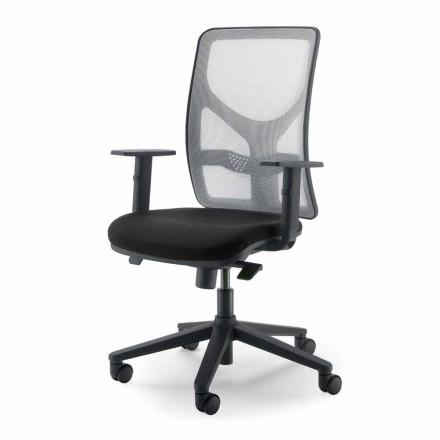 Fotel biurowy wykonany z wysokiej jakości materiałów we Włoszech Amelie