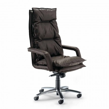 Fotel biurowy nowoczesny z sztucznej skóry model Gemma