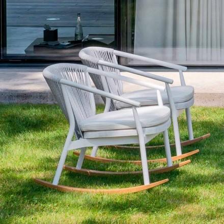 Fotel ogrodowy z litego drewna i tkaniny - Smart by Varaschin