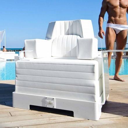 Fotel pływający biały design Trona Luxury made in Italy