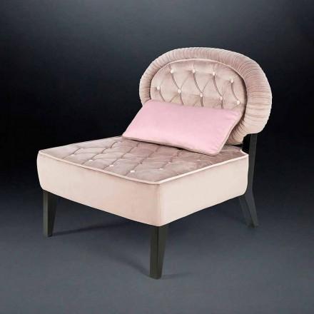 Fotel z aksamitu pikowany Elizabeth
