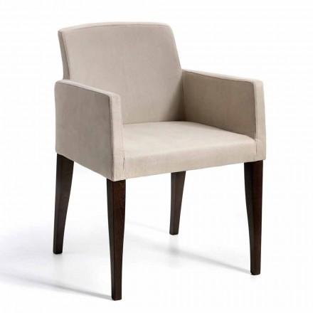 Fotel z eko skóry i drewna model Omega, wyprodukowany we Włoszech
