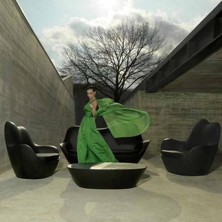 Nowoczesny fotel ogrodowy, wykonany z polietylenu, Sabinas firmy Vondom