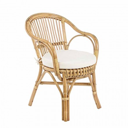 Fotel ogrodowy z naturalnego rattanu do projektowania na zewnątrz - Sporalizia
