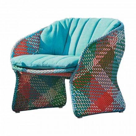 Tapicerowany fotel do salonu na zewnątrz, z włókna syntetycznego - Maat firmy Varaschin