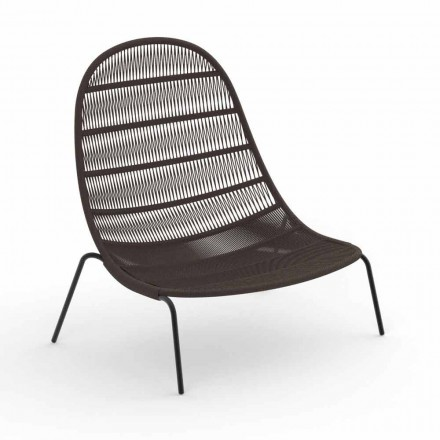 Fotel ogrodowy z aluminium i tkaniny - Panama od Talenti