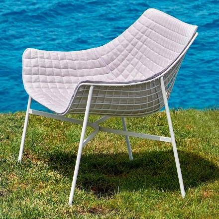 Nowoczesny fotel ogrodowy wykonany ze stali Summer set by Varaschin