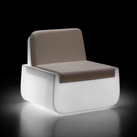Lśniący fotel ogrodowy z polietylenu z poduszką Made in Italy - Belida