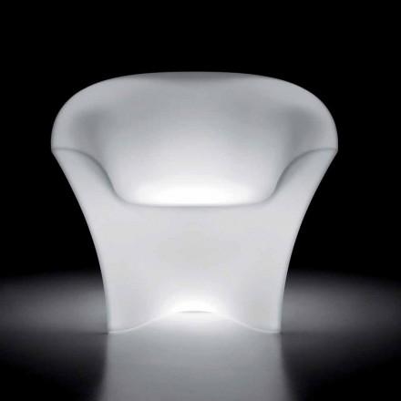 Luminous Fotel zewnętrzny z polietylenu ze światłem LED Made in Italy - Conda