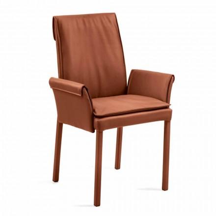 Fotel made in Italy obity skórą model Niles, nowoczesny design