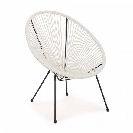 Fotel ogrodowy o nowoczesnym designie ze stali lakierowanej - musujący