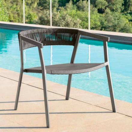Key Talenti nowoczesny fotel ogrodowy, aluminium i tekstylen