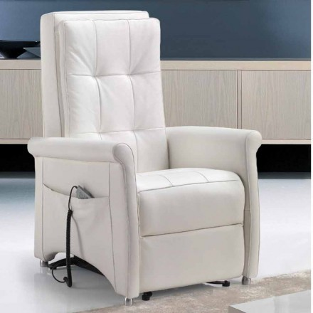 Fotel relax 1 silnik model Via Roma, made in Italy