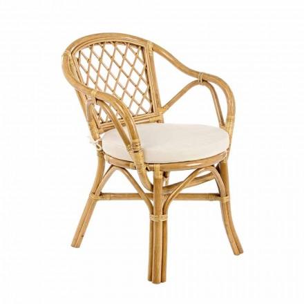 Krzesło ogrodowe do ustawiania w stos z naturalnego rattanu - zarodnik