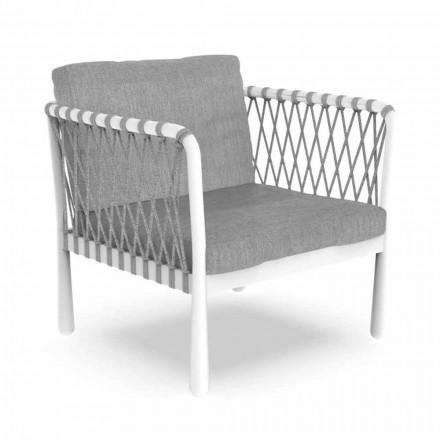 Nowoczesny fotel ogrodowy z aluminium i tkaniny - Sofy firmy Talenti