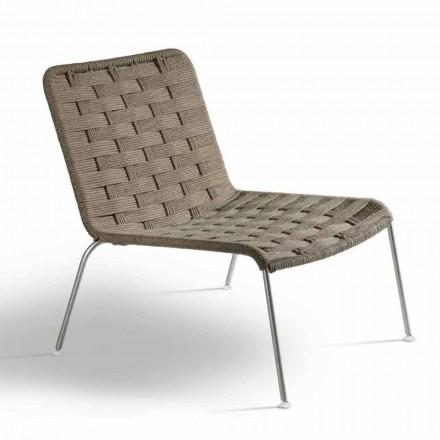 Liniowy nowoczesny fotel ogrodowy Made in Italy - Madagascar3