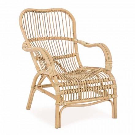 Fotel ogrodowy z naturalnego rattanu do projektowania na zewnątrz - Melizia