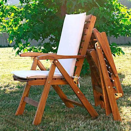 Fotel składany z teak do ogrodu
