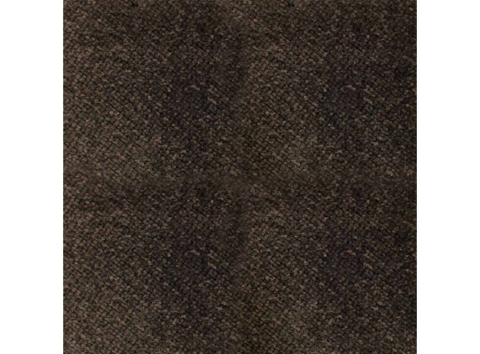 Cenny fotel z tkaniny lub aksamitu z bukową podstawą Made in Italy - Molde