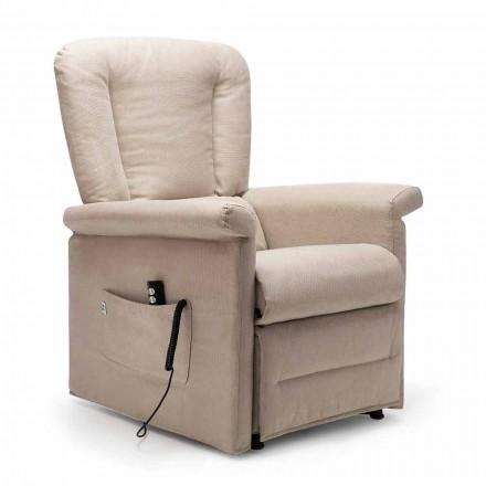 Fotel rozkładany Lift Relax z 2 silnikami na kółkach, wyprodukowany we Włoszech - Isabelle