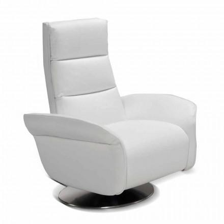 Fotel relax 2 silniki materiał/skóra/sztuczna skóra Gemma