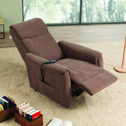 Fotel relax 2 silniki model Via Milano, made in Italy