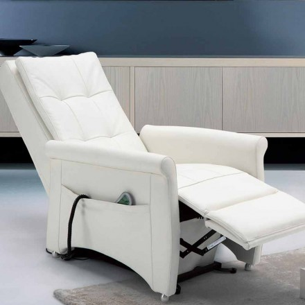 Fotel relax 2 silniki model Via Roma, made in Italy