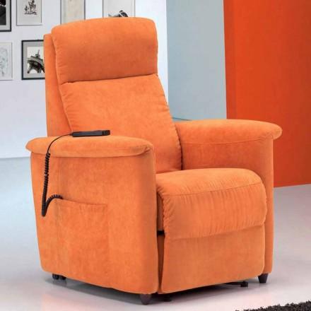 Nowoczesny fotel rozkładany Via Firenze, pojedynczy silnik
