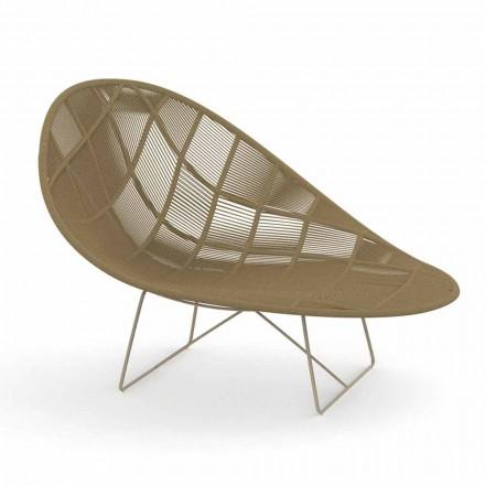 Nowoczesny fotel ogrodowy Relax z aluminium i tkaniny - Panama od Talenti