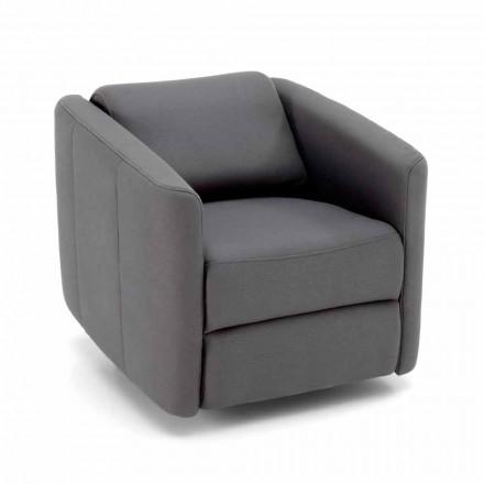Nowoczesny rozkładany fotel rozkładany w skórze sztucznej skóry - Magalotti