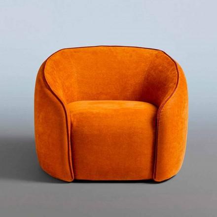 Fotel Relax Nowoczesny design Wykonany we Włoszech z kolorowej tkaniny - Baloo