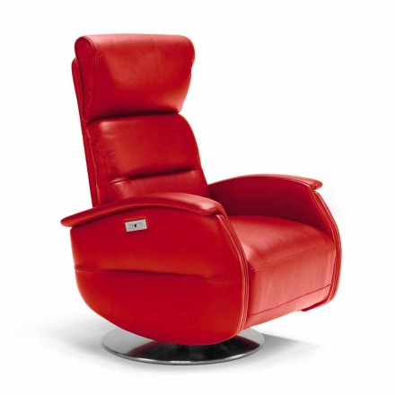 Fotel relax materiał/skóra/sztuczna skóra Gemma, made in Italy