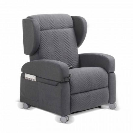 Fotel relax ortopedyczny 4 silniki wykonane we Włoszech Giglio