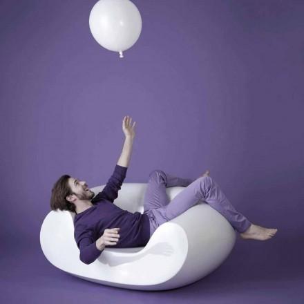 Nowoczesny kolorowy fotel ogrodowy Slide Chubby, wykonany we Włoszech