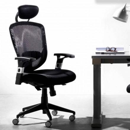 Kierunkowe i operacyjne obrotowe nowoczesne czarne krzesło - Simona