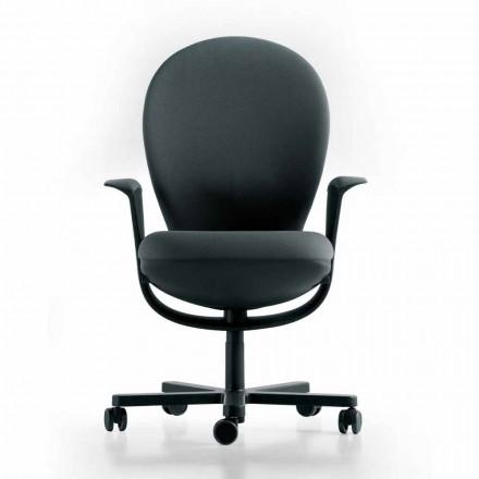Fotel biurowy design Bea, obudowa szara