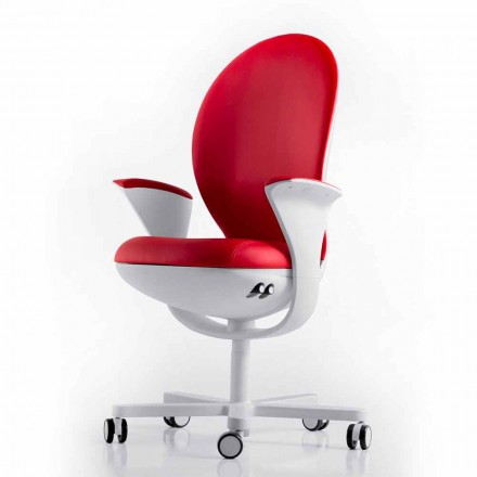 Fotel biurowy skórzany lub z materiału Bea