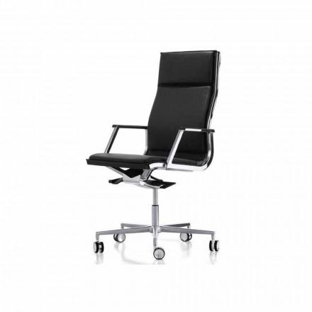 Krzesło biurowe ergonomiczne design z podłokietnikami Nulite
