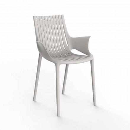 Fotel do jadalni z tworzywa sztucznego do układania w stosy, 4 sztuki - Ibiza firmy Vondom