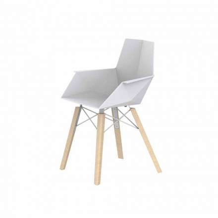 Zaprojektuj fotel do salonu z polipropylenu i drewna - Faz Wood firmy Vondom