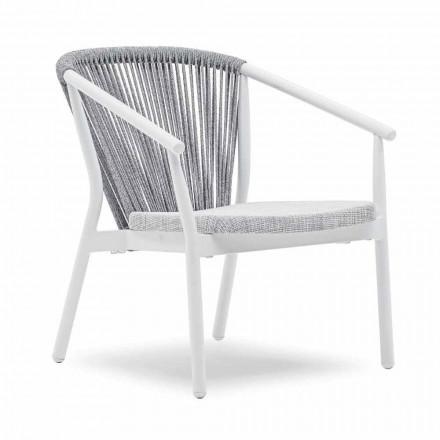 Fotel ogrodowy do ustawiania w stos aluminium i materiał - Smart By Varaschin