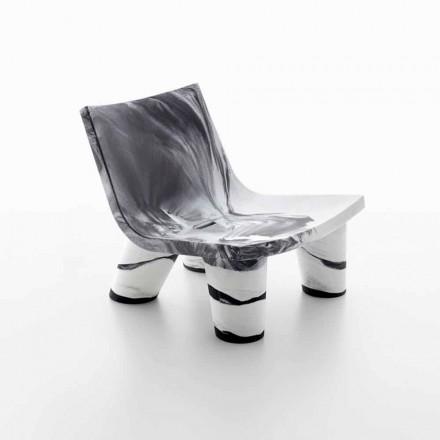 Fotel ogrodowy biało-czarny Slide Low Lita Anniversary