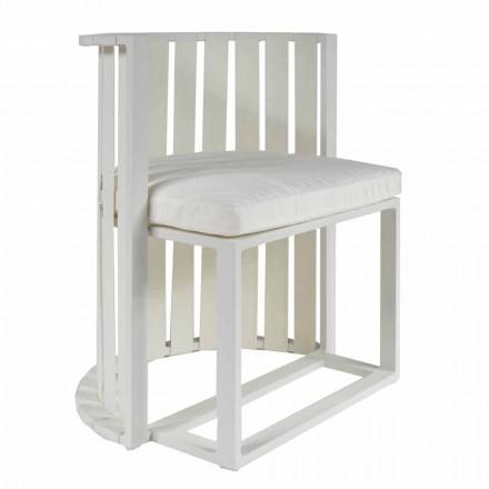 Fotel do jadalni ogrodowy z aluminiowymi i luksusowymi linami - Julie