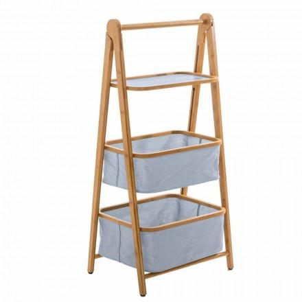 Designerskie akcesoria łazienkowe w tkaninie Vercelli i bambusie