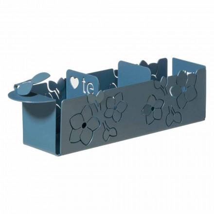 Porta Saszetki z motywem kwiatowym nowoczesnego designu z żelaza Made in Italy - Marken