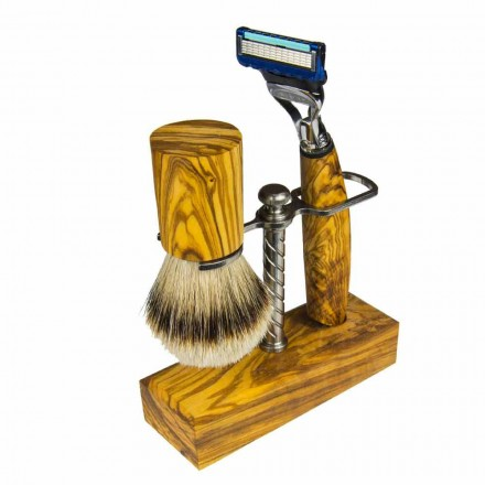 Stojak na maszynkę i pędzel do golenia, produkt rzemieślniczy wyprodukowany we Włoszech - Diplo