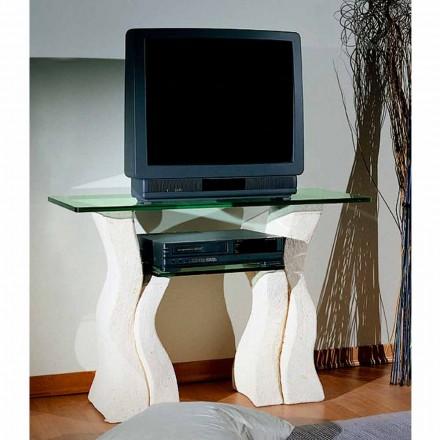 Meble RTV z kamienia Vicenza i kryształu model Khloe