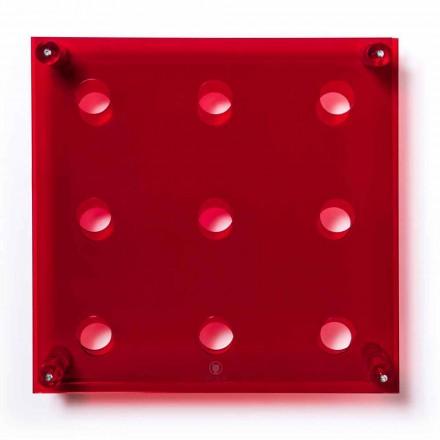 Uchwyt ścienny Amin Big L45xH45xP13,6cm przezroczysty czerwony