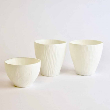 Zaprojektuj świecznik z zdobionej białej porcelany, 3 sztuki - Arcireale